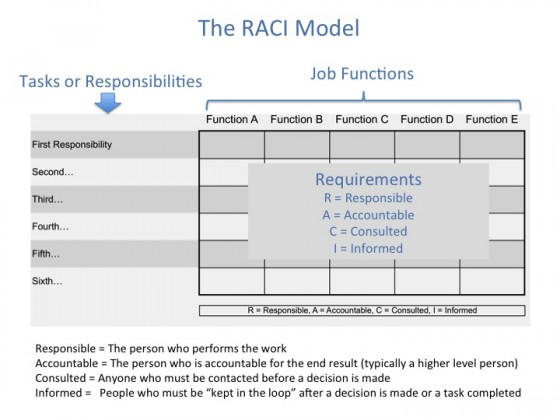Top level view of the RACI model